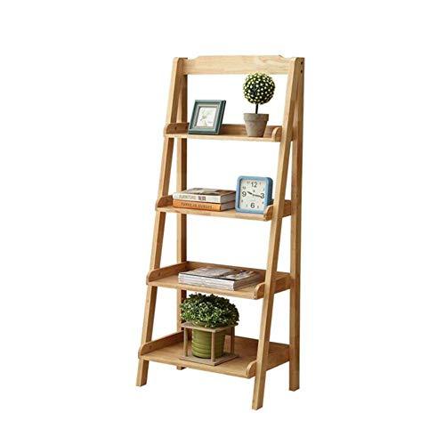 YLCJ Display voor Wandplanken met wandplanken op 4 niveaus met houten planken op 4 niveaus (afmeting: 60 * 36 * 140 cm)