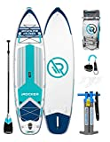 iROCKER Cruiser Inflatable Stand Up Paddle Board 10'6' Long 33' Wide 6' Thick SUP Package