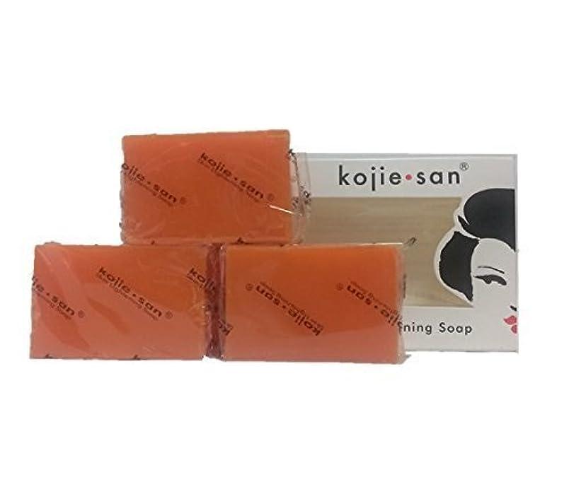 不良慈悲反論Kojie san Skin Lightning Soap 3 pcs こじえさんスキンライトニングソープ3個パック [並行輸入品]