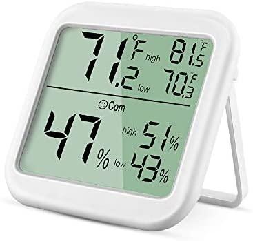 TSAI Hygrometer Indoor Max Digital Humidity Monitor Thermometer Humidity Gauge with Ultra Large product image