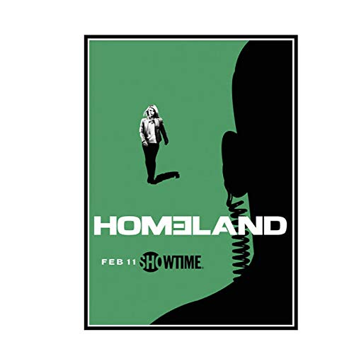 DuanWu Homeland 2018 Saison 7 série télévisée Affiches et Impressions Toile Mur Art Peinture décoration de la Maison Cadeau -50x70 cm Pas de Cadre 1 pièces