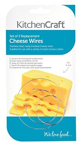 Un set di 3Volt formaggio fili progettato per adattarsi KitchenCraft e MasterClass pialla per formaggio affettatrice modelli Tagliare fili di questi 25cm (25,4cm) fino alla taglia con facilità.. Puoi anche usarli con alcuni altri modelli di marca ...