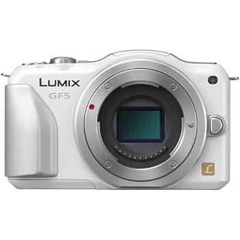 パナソニック ミラーレス一眼カメラ ルミックス GF5 ボディ 1210万画素 シェルホワイト DMC-GF5-W