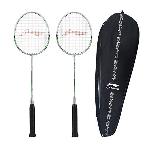 Li-Ning XP-80-IV Aluminum Strung Badminton Racquet (Grey/Green ,...