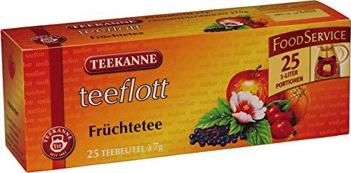 TEEKANNE Früchtetee teeflott, Beutel, ergibt: 1.000 ml, 25 x 7 g (25 Stück), Sie erhalten 1 Packung á 25 Stück