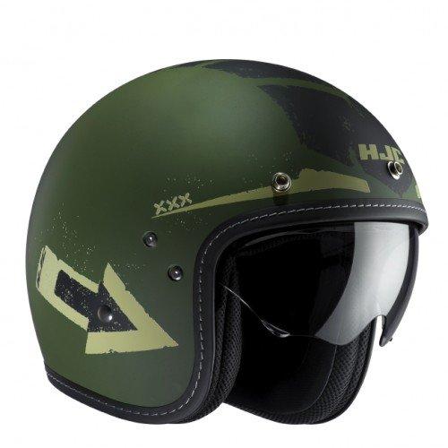 HJC FG 70s Tales MC4F - Casco de Moto, Talla S, Color Verde