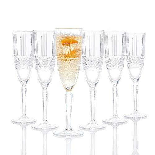 RCR 26968020006 - Calici da champagne Brillante, 185 ml, 6 pezzi