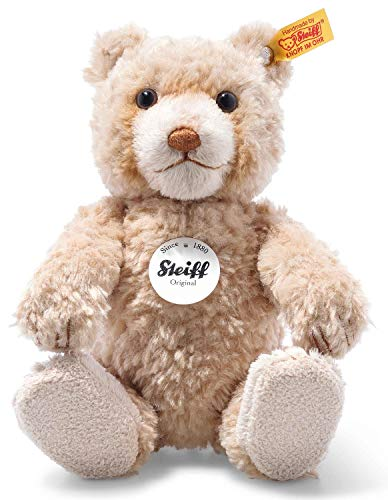Steiff Bear Teddy Bear Buddy, Plush Toy 24 cm, Plush Bear Teddy Cuddly Toy for Children, Cuddly Toy for Playing & Cuddling, Movable Limbs (5 Compartments) & Washable, Original Soft Toy Beige (109935)