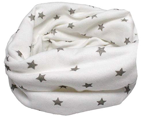 Colourful Baby World Enfant en coton multiusage Bandana Bonnet Tour de cou (Étincelles blanc)