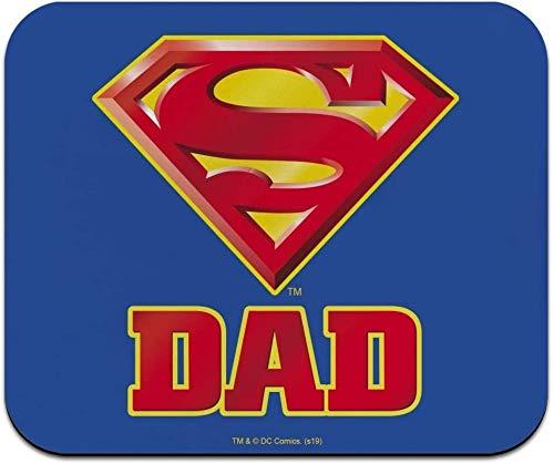 Alfombrilla de ratón fina de perfil bajo con logotipo de Superman Super Dad Shield