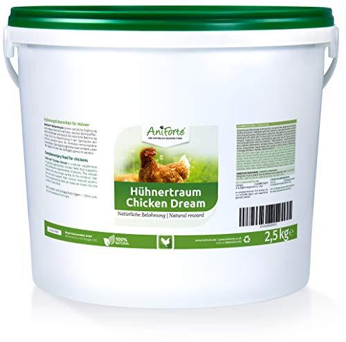 AniForte Hühnertraum für Hühner 2,5kg - Natürliche Futter Belohnung, Ausgewogen & Artgerecht mit wertvollen Kräutern, Ohne künstliche Zusätze