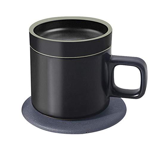 Intelligente Elektroheizung Kaffeetassen, Wireless Charging Janpan Original-Keramik Isolierung Kaffeetasse, Für Home Office,Schwarz