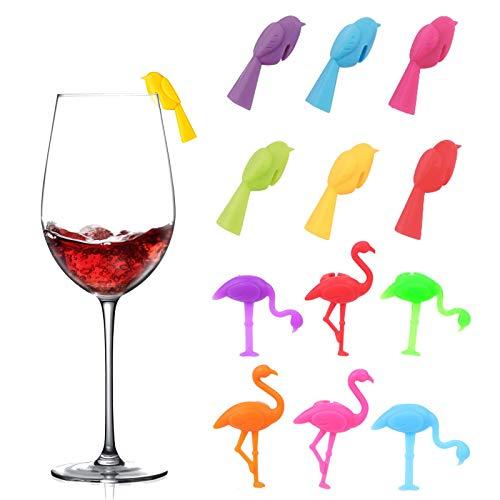 N\O Heiqlay 12pcs Segnabicchieri Calici, Set di Kit di Strumenti per Il Vino per Le Decorazioni per la Cena in Famiglia del Bar Party