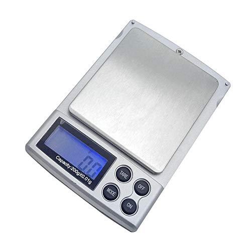 Mini Sieraden Weegschaal Klein Evenwicht Keukenweegschaal Precisie 0.01G Zakweegschaal Draagbare Palmweegschaal-2Kg / 0.1G