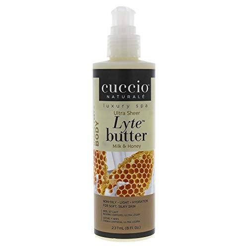 Cuccio Lyte Ultra-Sheer Body Beurre Lait/Miel pour Unisexe Lotion pour Corps 8 oz