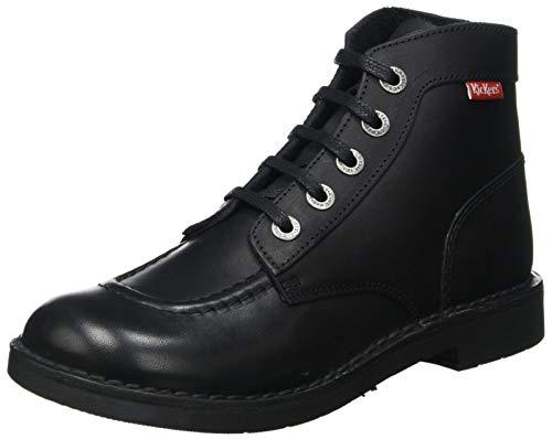 Kickers Kick Col, Botas Slouch para Niñas, Negro (Noir Vernis Perm 83), 34 EU