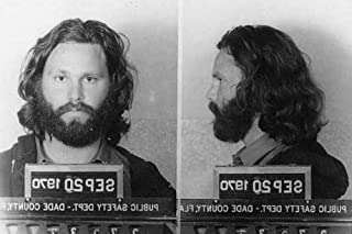 ConversationPrints Jim Morrison Mugshot Glossy Poster Picture Photo Print Doors James Arrest
