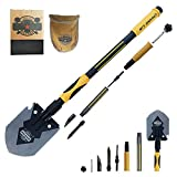 Maxspace Folding Shovel, Ultimate Survival Shovel Tactical Shovel Multi-Function Snow Shovel with Ice Breaker Outdoor Survival Entrenching Tool for Hiking Camping Trenching Gardening Hunting Fishing