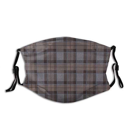 asdew987 Fraser - Tela de tela de tartán para caza, lavable, reutilizable, cubierta transpirable con bucles ajustables para los oídos
