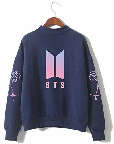 SERAPHY Unisex BTS Kapuzenpullover Bangtan Boys Love Yourself BTS Rollkragen Sweatshirts für Armee Suga Jimin Jin Jung Jook J-Hope Rap-Monster V königlich-P M
