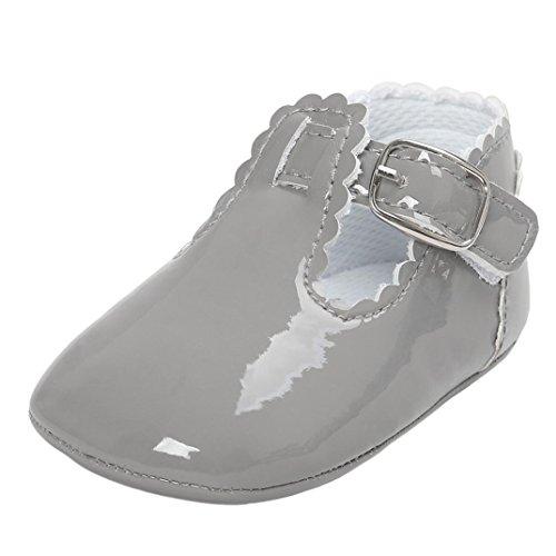 Logobeing Bebe Niñas Zapatos de Vestir Antideslizante Suela Blanda Primeros Pasos para...