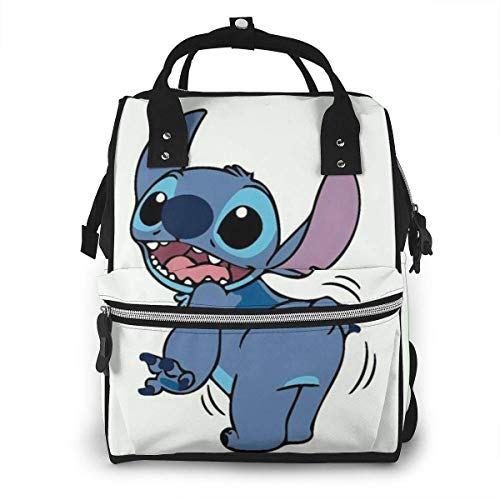 Diaper Bag- Cute Stitch Mommy Bag, Multi-Function Large Capacity Travel Backpack Nappy Bag