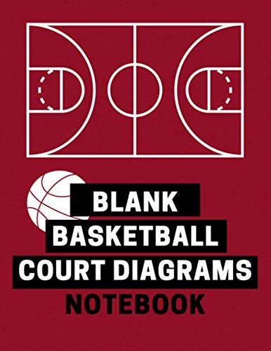 Blank Basketball Court Diagrams Notebook: Blank strategy playbook for coaches