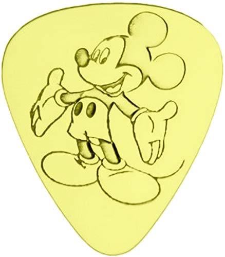 Mickey Mouse - Juego de 6 púas de guitarra de latón macizo