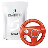 smardy Volante de carreras / Racing Wheel De Dirección rojo compatible con Nintendo Wii y Wii U Remote (Mario Kart, Juego De Carreras...)