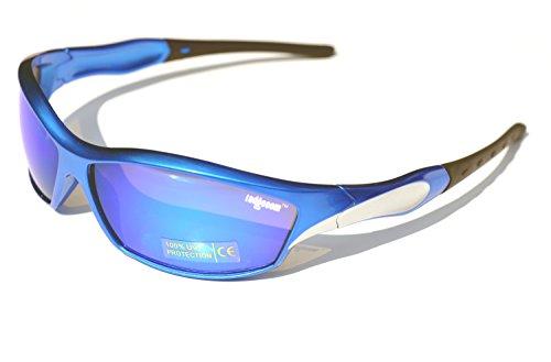 Ladgecom [ Ice ] Sports Sunglasses with Revo Lens, Hard...