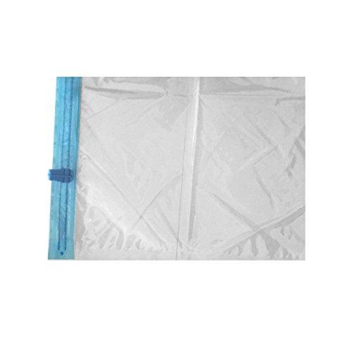 Bolsa comprimida al vacío manualmente Bolsas de Sellado Bolsas de Almacenamiento de Viaje Organizador de Ropa (Transparente 40 * 60 cm)