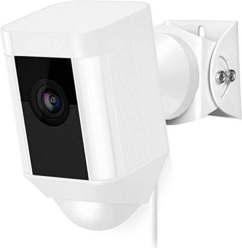 Wasserstein Versatile Aluminum Wall Mount for The Ring Spotlight Cam Wired - Adjust Flexibly The Viewing Angle of Your Camera (White)