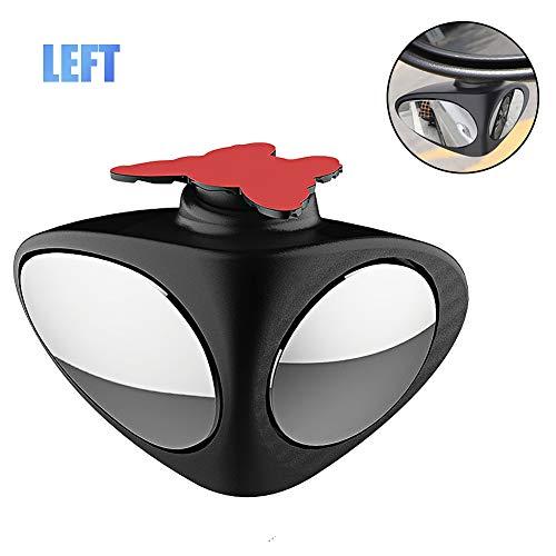 Espejo Angulo Muerto Coche,Doble Espejo HD Convexo Ajustables Blind Spot Espejo Retrovisor Coche Canvex Espejo Retrovisor Auxiliar para Todo Tipo de Vehículos,Lzquierda