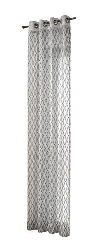 Heco Ösenschal, Stoff, Silber, 245 cm x 135 cm