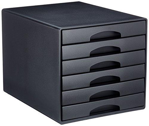 Leitz 52120095 Plus Schubladenbox, 6 Schubladen, Polystyrol, schwarz