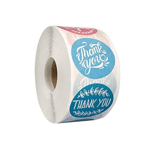「Thank you」ありがとう シール ラッピング ラベル ステッカー ギフトシール クリスマスギフト ステッカー ビッグサイズ 円型 手作りシール 可愛い 業務用 感?の日 500枚 (2.5CM D)