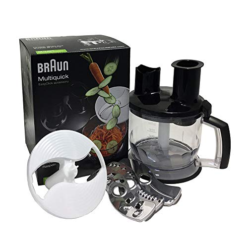 Braun Küchenmaschinen Aufsatz MQ 70 - Stabmixer Zubehör kompatibel mit Braun MultiQuick Stabmixer mit EasyClick System, 1,5 l, schwarz