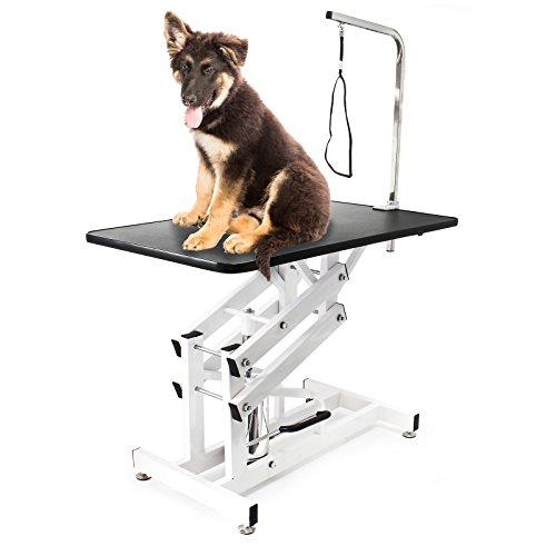 Wiltec Schertisch Trimmtisch hydraulisch faltbar Pflegetisch für Hund und Katze