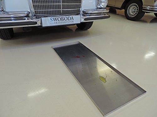 Veteranicar Tropfblech lang Ölauffangwanne ca.115x40x2cm Aluminium Silber
