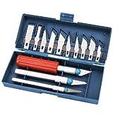Cúter Profesional De Precisión | Kit De 3 Asas Y 13 Cuchillas De Metal De Repuesto | Caja De Herramientas Para Manualidades, Modelismo Y Vinilos