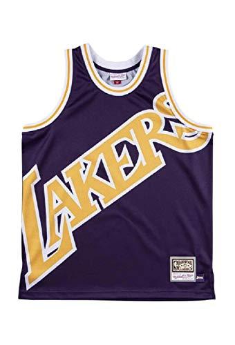 Mitchell & Ness NBA Big Face Jersey Lakers Purple XL