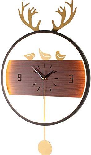 Apliques de Pared de estilo industrial, Luz de pared, reloj de antirrojo redondo negro Lámpara de pared Timmable Timmable Lámpara de pared, 3 Color Temperatura, Ajustable, Brillante Ajustable, Para Ho