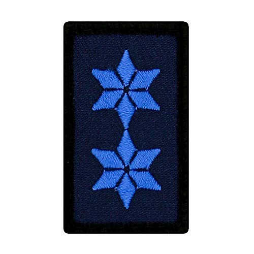 Café Viereck ® Polizei Mini Rangabzeichen - Patch mit Dienstgrad - Gestickt mit Klett – 3 x 5 cm (Polizeimeister (PM))