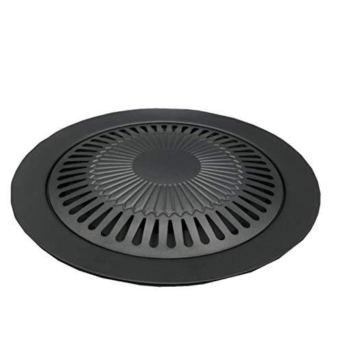 PDVCB barbacoa eléctrica interior Grills de barbacoa coreana antiadherente PAN REDONDA PAN...