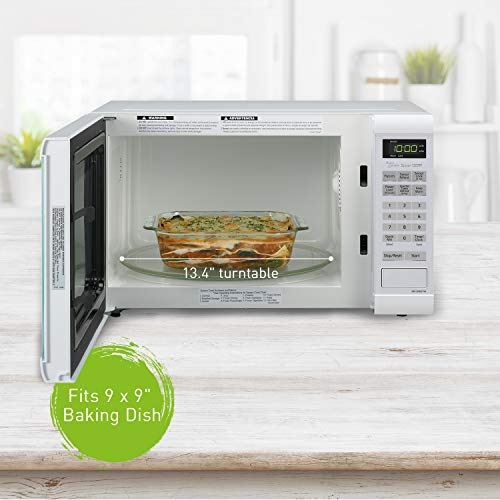 Panasonic Microwave Oven NN-SN651WAZ White Countertop with Inverter Technology and Genius Sensor, 1.2 Cu. Ft, 1200W