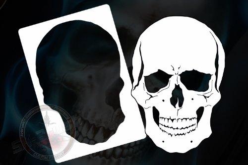 Professionele airbrush sjabloon voor schedel doodshoofd Skull Stencil