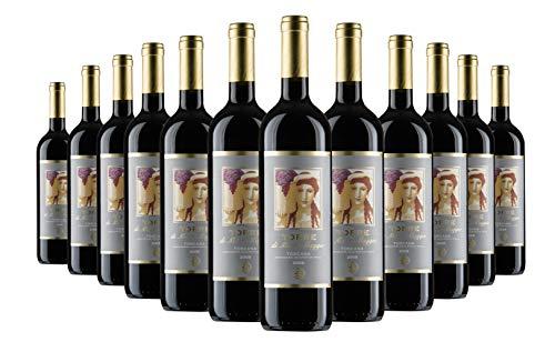 Torre di Montemaggio - Rotwein Bio - Super Toskanischer Luxuriöser Edler Bio - 100% Merlot - Wein aus Italien - Fattoria di Montemaggio - 0.75L - 24 Flaschen