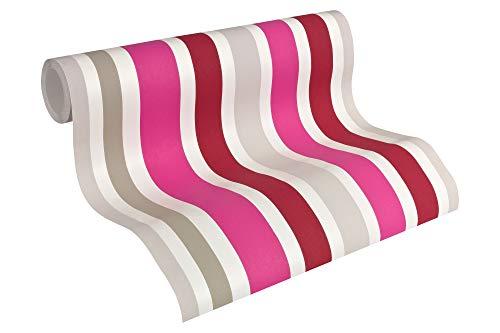 Esprit Kids Vliestapete Sweet Butterfly Tapete Kindertapete 10,05 m x 0,53 m grau rosa rot Made in Germany 302882 30288-2