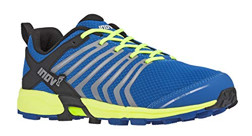 Inov-8 Mens Roclite 300 | Trail Running Shoes | Perfect Entry Shoe for Runners Seeking Comfort & Protection | Blue/Yellow M11.5/ W13