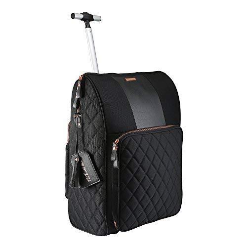 La custodia in pelle da viaggio con borsetta integrata 55 x 40 x 20 cm (Black)